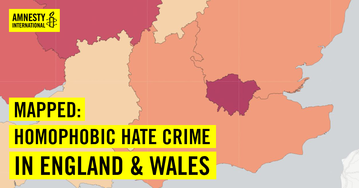 Uk Map Of England.Mapping Homophobia In England And Wales Amnesty International Uk