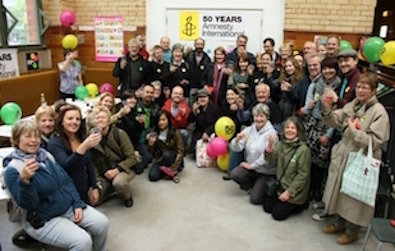 Manchester Amnesty members celebrate 50 years of Amnesty International