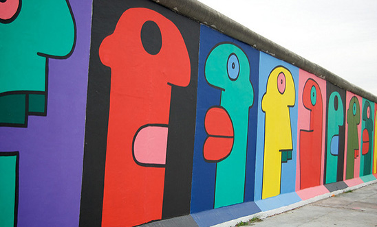 Thierry Noir: Untitled - Berlin Wall