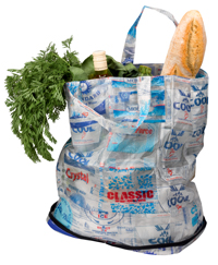 Recycled water sachet bag