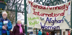 Kendall Amnesty groups hosts a stall in support of women in Afghanistan