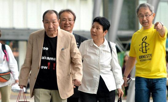 Former Japanese death row inmate Hamakada Iwao returns to his hometown