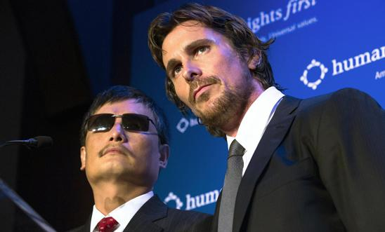 Chen Guangcheng and Christian Bale
