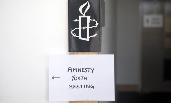 Amnesty youth meeting sign