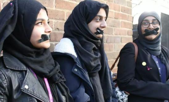 Students from Ellen Wilkinson School for Girls in London