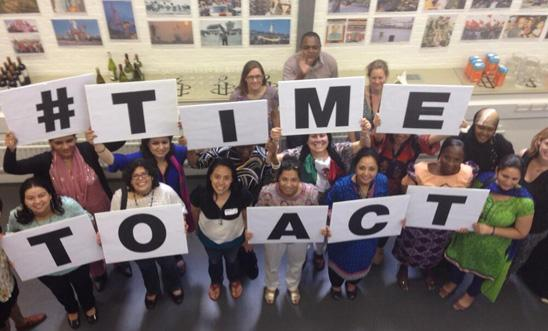 Human rights activists spell out 'time to act'
