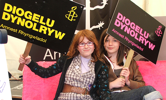 Amnesty International UK campaigners