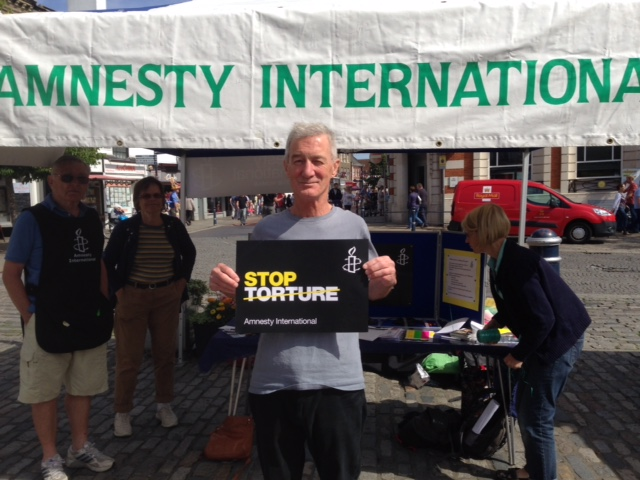 Stop Torture Stall, Hitchin (August 2015)