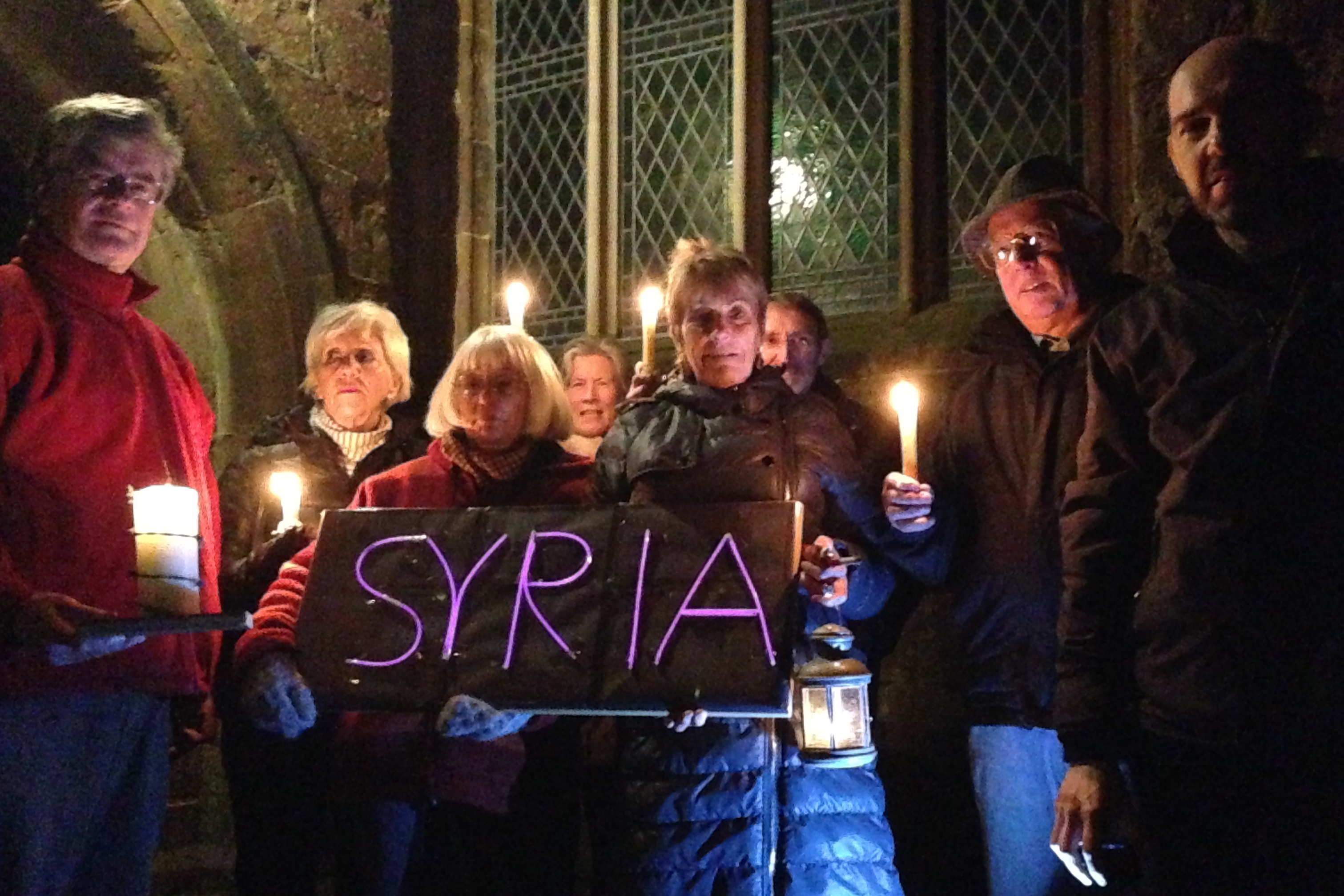 Candlelight vigil for Syria