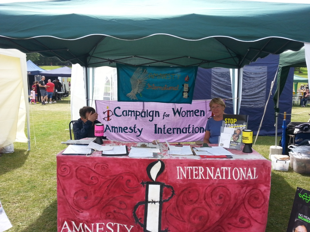 Our stall at the East Barnet Festival - July 2014