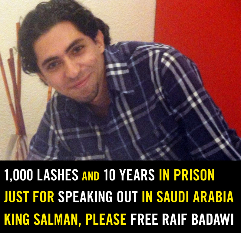 freedom of speech in saudi arabia News people raif badawi profile: how the freedom-of-speech blogger sentenced to 1000 lashes put the spotlight on saudi arabia the editor was sentenced to 50 lashes for 20 weeks - all for starting a website.