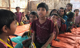 Rohingya children in Bangladesh