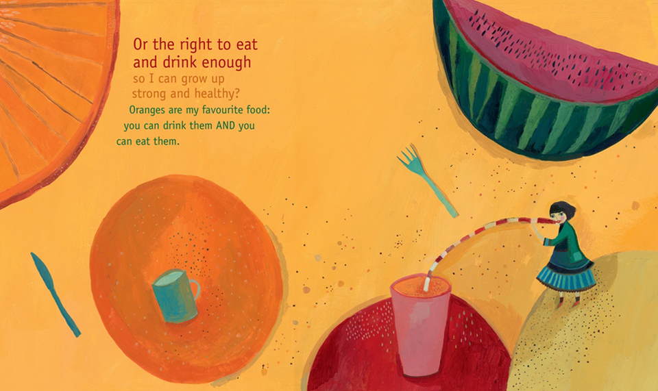 The right to eat and drink to grow up to be helathy