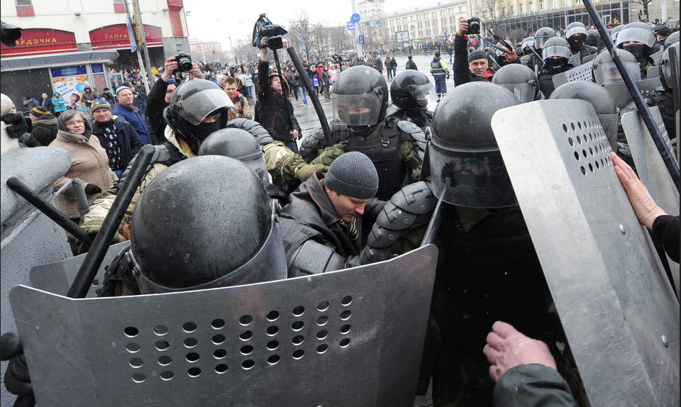 Belarusian authorities arrested dozens of peaceful protesters and journalists in a massive crackdown on freedom of expression and peaceful assembly