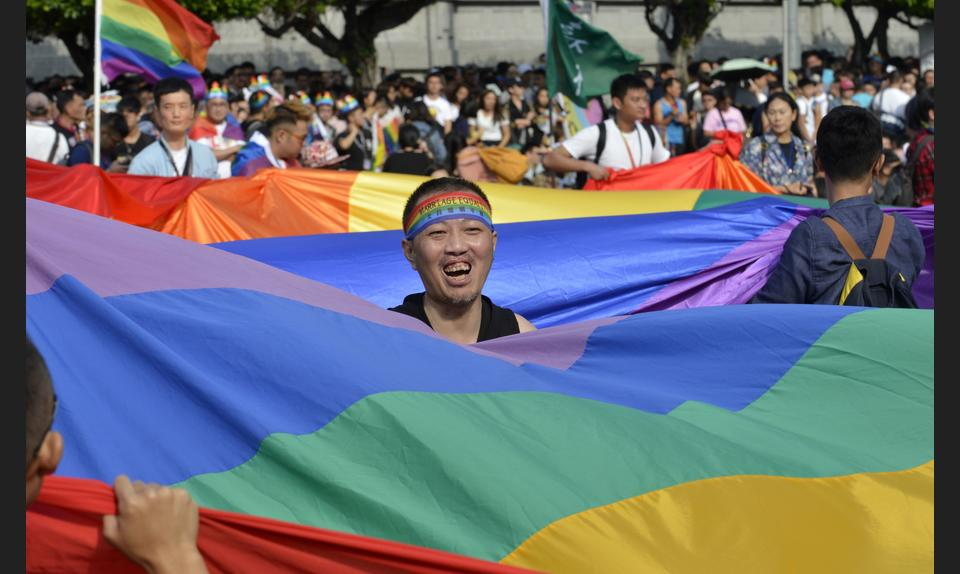 In October 2017, tens of thousands of people marched in Taiwan's first gay pride parade