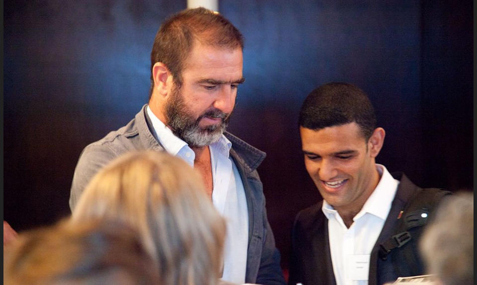 Eric Cantona and Mahmoud Sarsak