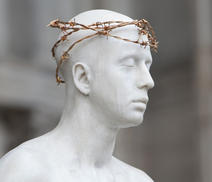 Mark Wallinger's 'Ecce Homo' statue at St Paul's Cathedral