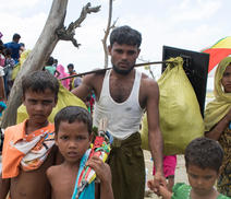 Rohingya refugees fleeing Myanmar