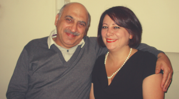 Anoosheh with his wife, Sherry