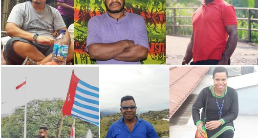 Six Papuan activists