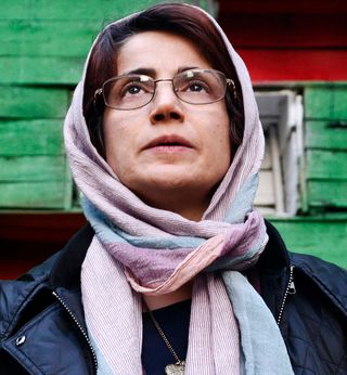 Human rights lawyer Nasrin Sotoudeh photographed in the garden of her office in Tehran, Iran