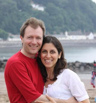Nazanin Zaghari-Ratcliffe with her husband Richard