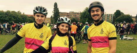 Team Amnesty cyclists
