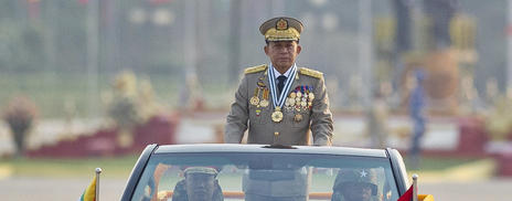 Chief Senior General Min Aung Hlaing, commander in chief of the Myanmar armed forces
