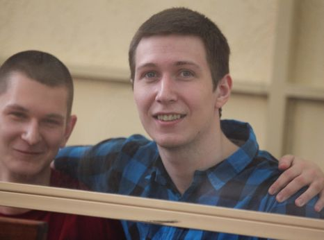Yan Sidorov (left) and Vladislav Mordasov, Russian youth activists and prisoners of conscience