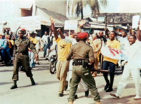 Security forces clash with demonstrators in Douala