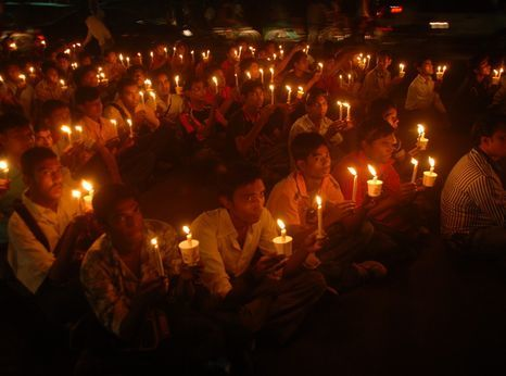 Action in Bangladesh celebrating the 60th anniversary of the Universal Declaration of Human Rights