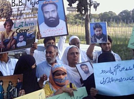 Protests against enforced disappearances in Pakistan
