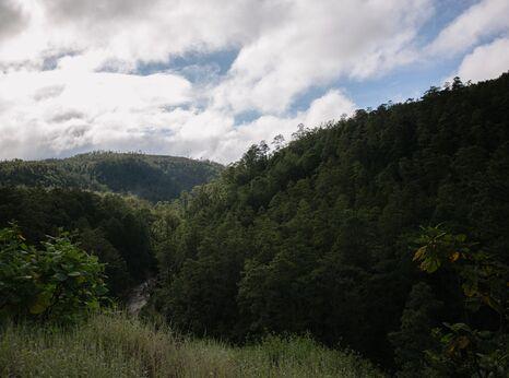 Landscape of La Esperanza, Intibucá in Honduras