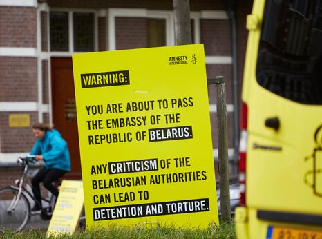 Activists Protest Against Human Rights Abuses In Belarus