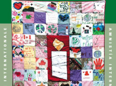 Postcard of COLOMBIA SOLIDARITY QUILT