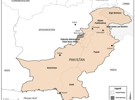 Pakistan regional map