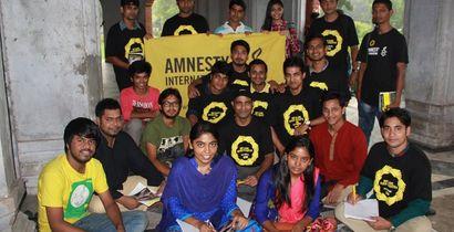 Activists in Dhaka, Bangladesh