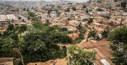 A poor neighborhood overlooking Cabinda