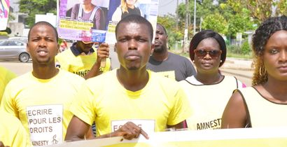 Amnesty International Côte d'Ivoire members and supporters