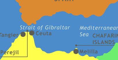 Ceuta and Melilla map