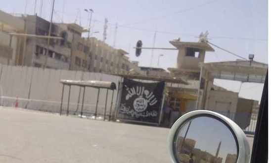 ISIS flag on display in Mosul earlier this month