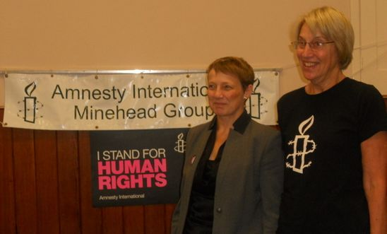 MEP Clare Moody with Alison Dietz chair of the Minehead Group
