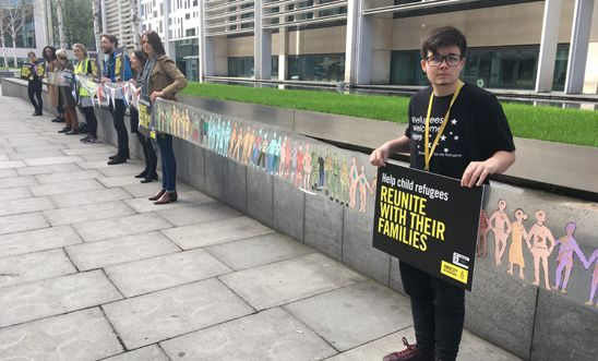 Calling for family reunion rights for child refugees outside the Home Office