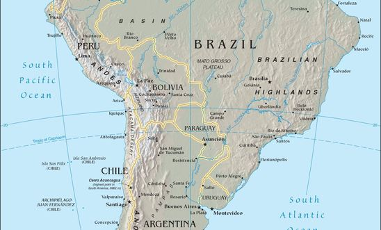 Map Of South America 2017.April 2017 Meeting Human Rights Issues In South America North