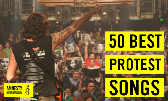 Amnesty Best protest songs