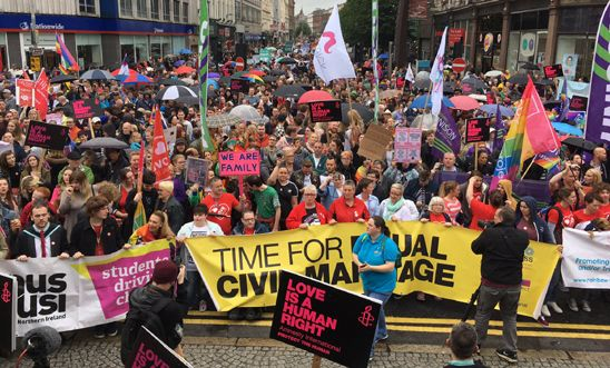 March for Equal Marriage in Belfast, Northern Ireland 2 Jul, 2017