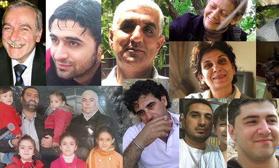 A few of the thousands who have disappeared in Syria since 2011