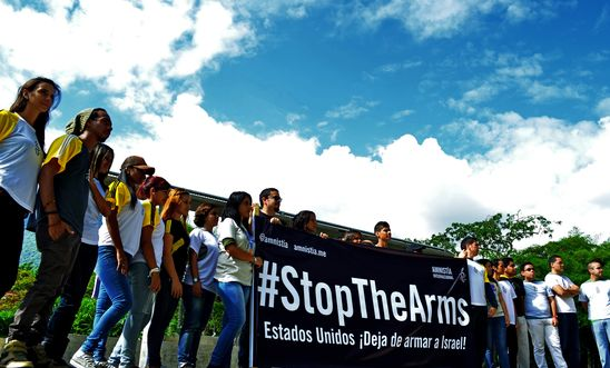 Amnesty #StopTheArms action
