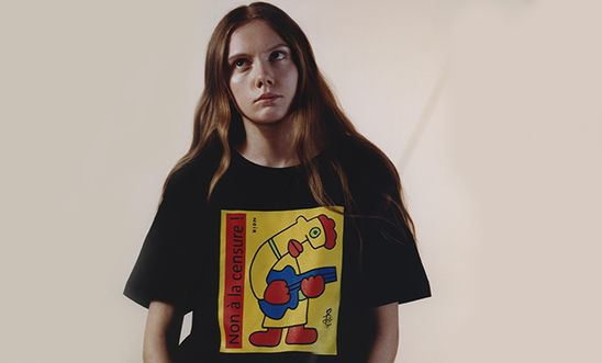 Thierry Noir's T-shirt design for the 50/50 collaboration with Amnesty and Everpress.