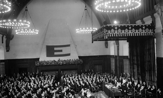The Hall of Knights at the Europa Congress in The Hague, May 1948